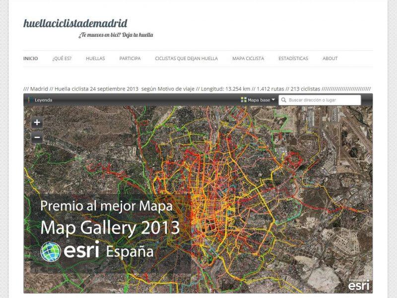 ¡Premio al mejor mapa en la Map Gallery de ESRI España 2013!
