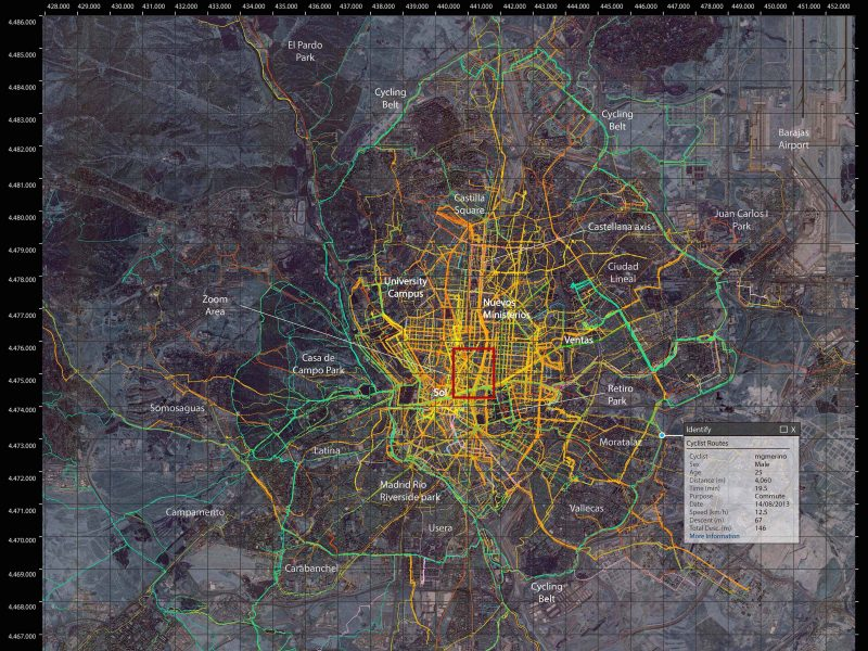 "Publicamos el artículo ""Madrid cycle track Visualizing the cyclable city"""