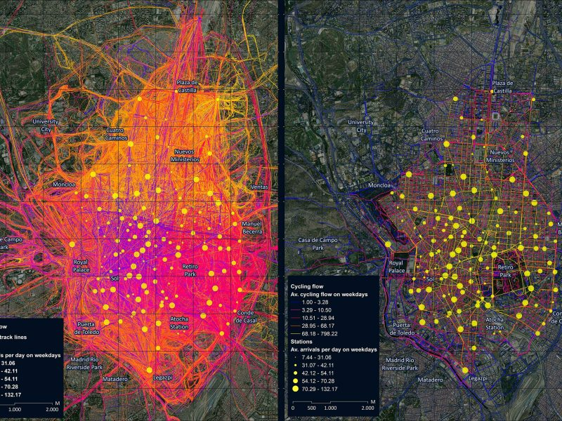 Publicamos el artículo «The pulse of the cycling city: visualising Madrid bike share system GPS routes and cycling flow»