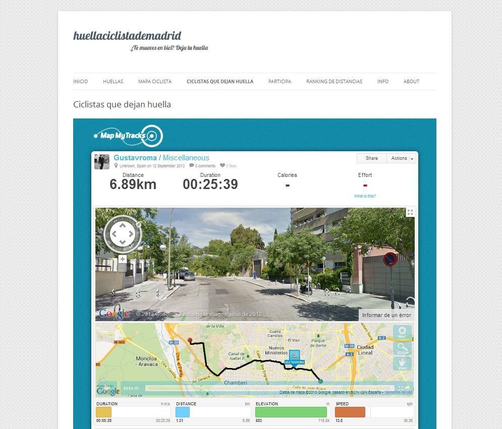 Capturando rutas con Map My Tracks