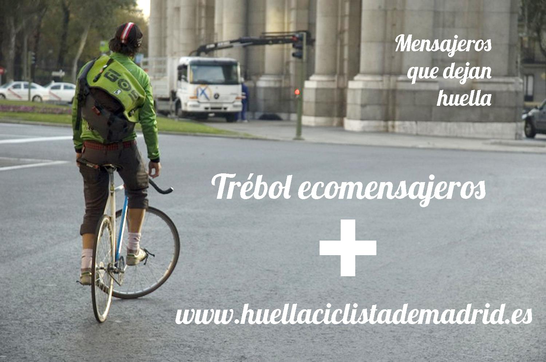 Trébol ecomensajeros se suma a dibujar la huella ciclista de Madrid